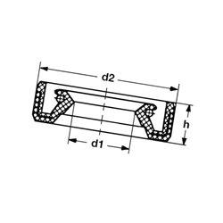 Pierścień uszczelniający wału przód 3TNV70 Yanmar 119717-01800