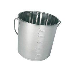 Wiadro ze stali szlachetnej z podziałką, 12,3 litra