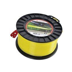 Żyłka nylonowa okrągła żółta , 4 mm 158 m