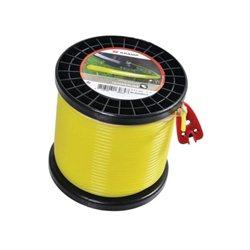 Żyłka nylonowa okrągła żółta , 4mm 32m