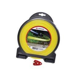 Żyłka nylonowa okrągła żółta , 3 mm 56 m