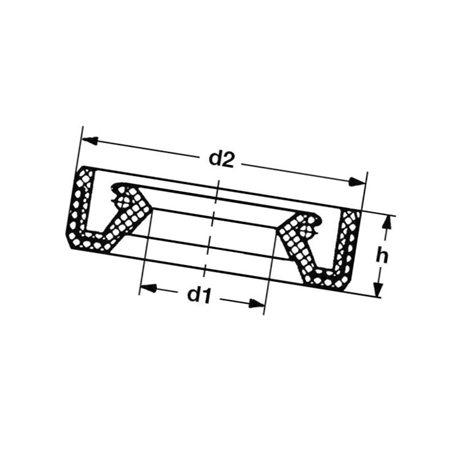 Pierścień uszczelniający wału Peerless PG788043, 788043
