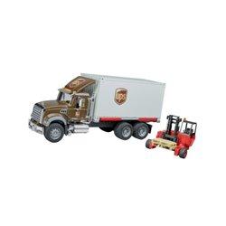 Ciężarówka Mack UPS z wózkiem widłowym Bruder  U02828