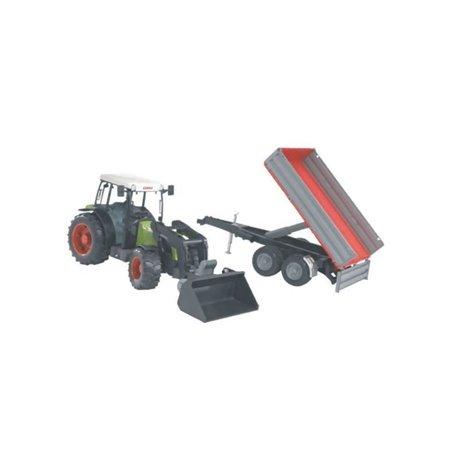 Traktor Claas Nectic 267 z ładowaczem i przyczepką Bruder  U02112