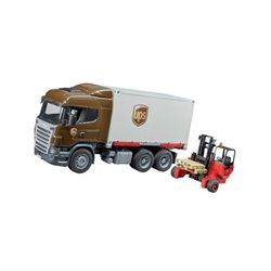 Ciężarówka Scania UPS z wózkiem widłowym Bruder  U03581