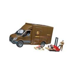Samochód Mercedes Benz kurier UPS i wózek widłowy Bruder  U02538