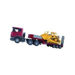 Ciężarówka Scania z naczepą i buldożerem CAT Bruder  U03555