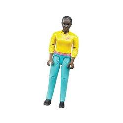 Kobieta w turkusowych spodniach Bruder  U60404