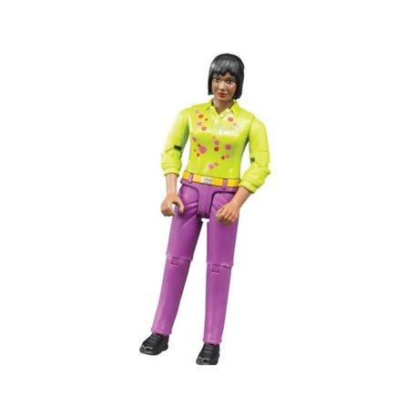 Kobieta w liliowych spodniach Bruder  U60403
