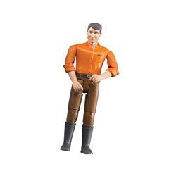 Mężczyzna w brązowych spodniach Bruder  U60007