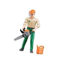 Zabawka figurka drwala z piłą Bruder  U60030