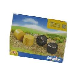 Sprasowane bele siana (czarna i żółta) Bruder  U02345