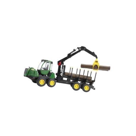 Traktor John Deere z przyczepą samozaładowczą i 4 balami Bruder  U02133