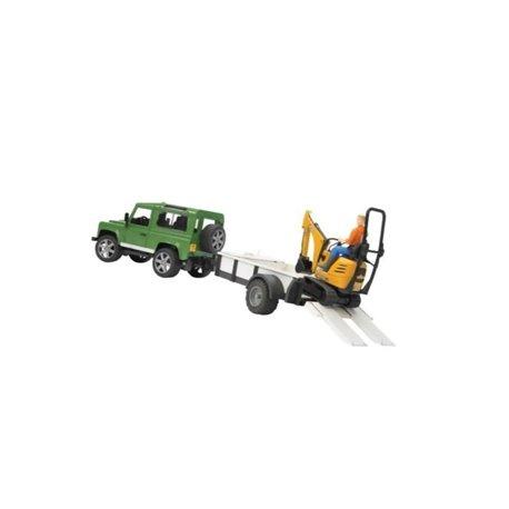 Samochód Land Rover z lawetą i minikoparką JCB 8010 CTS Bruder  U02593
