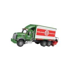 Ciężarówka Mack Granite z kontenerem i podnośnikiem Bruder  U02820