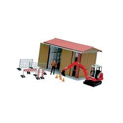 Zestaw garaż z figurką mężczyzny, koparką i akcesoriami bworld Bruder  U62020