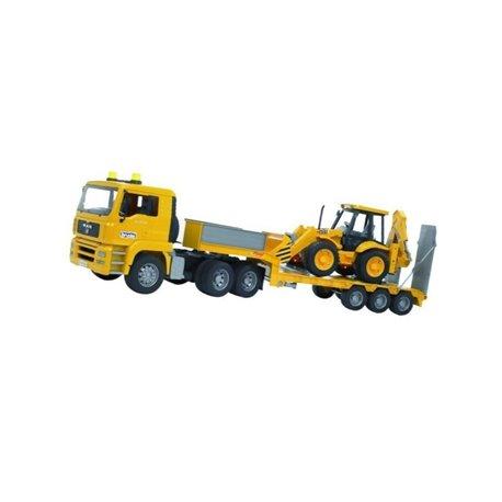 Ciężarówka MAN TGA z naczepą i ładowarką JCB Bruder  U02776