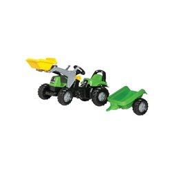 Traktor RollyKid Deuts FAHR z ładowaczem i przyczepą Rolly Toys  R02319