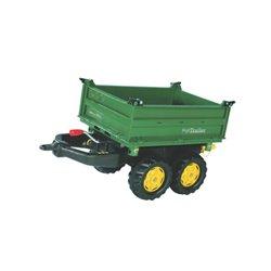 Przyczepa dwuosiowa zielona, do Ciągnika z napędem na pedały Rolly Toys  R12200