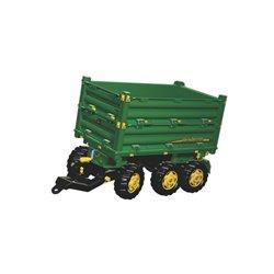 Przyczepa trzyosiowa John Deere, do ciągnika z napędem na pedały Rolly Toys  R12504