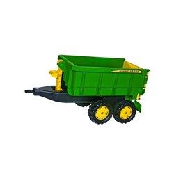 Przyczepa dwuosiowa John Deere, do ciągnika z napędem na pedały Rolly Toys  R12509