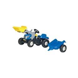 Traktor RollyKid New Holland TVT 190 z łądowaczem i przyczepką Rolly Toys  R02392