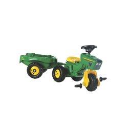 Ciągnik John Deere z przyczepką i napędem na pedały Rolly Toys 052769 R05276