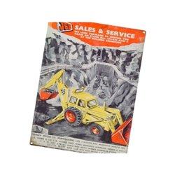 Plakat JCB Sales and Service Tractorfreak  TTF9194