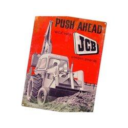 Plakat JCB Push ahead Tractorfreak  TTF9193