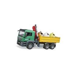 Ciężarówka MAN TGS z 3 kontenerami do recyklingu szkła Bruder