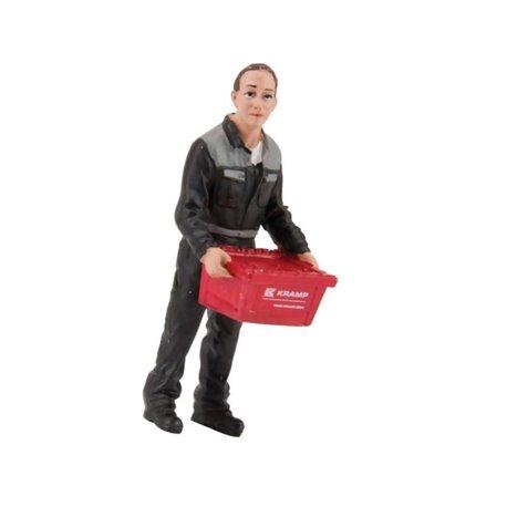 Figurka pracownika z pudełkiem