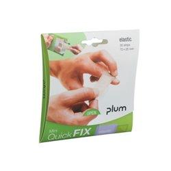 Opakowanie elastycznych plastrów Mini QuickFix 30 szt. Plum