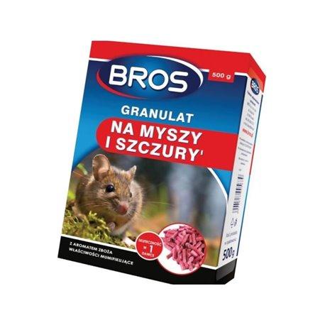 Granulat na myszy i szczury 500 g Bros