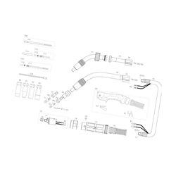 Akcesoria do palnika MIG/MAG , wąż wymienny niebieski kpl. 3,50 m TBi